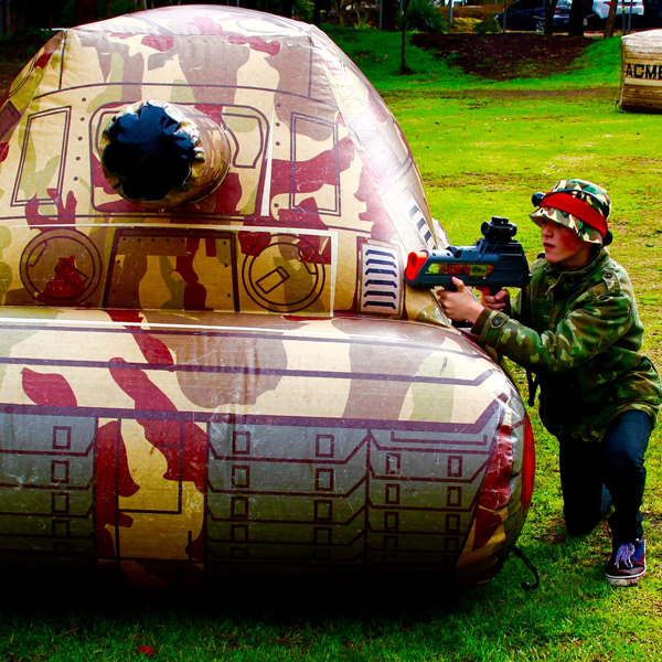 Army themed inflatables